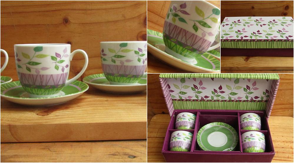 Juego de Tazas de té 8 piezas con caja